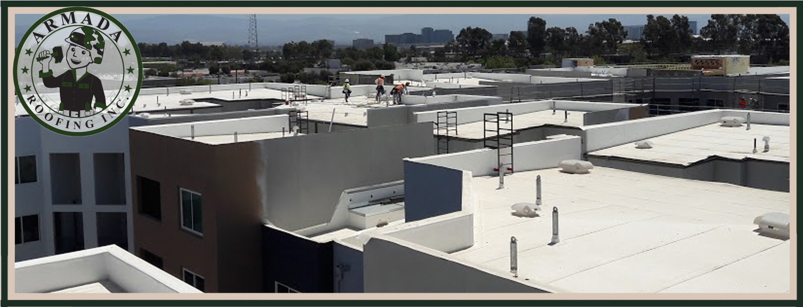 Riverside Single-ply installation for flat roofs Armada Roofing