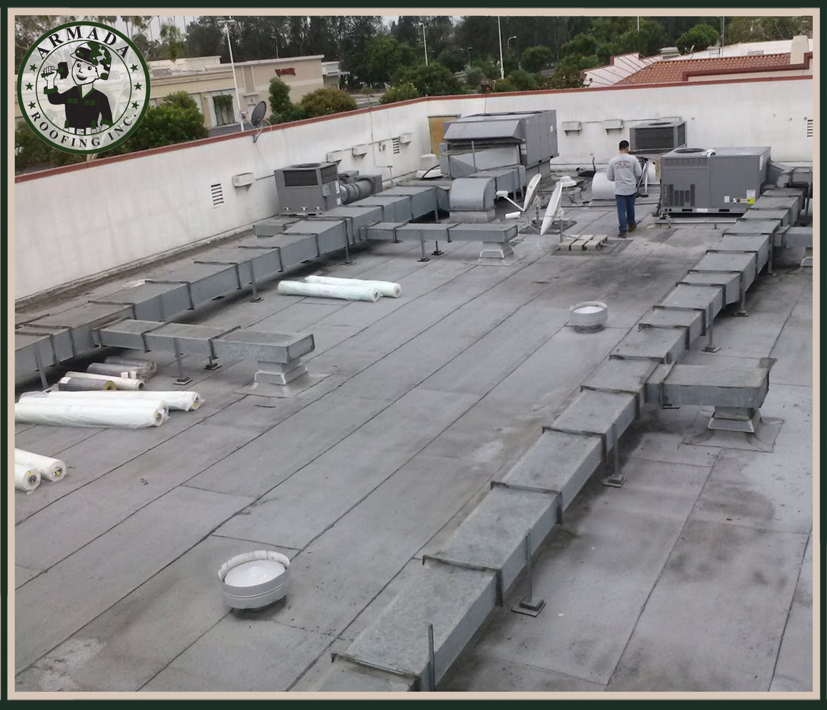 Single ply Roofing Flat roofs installer in Riverside